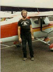 Geoff and plane